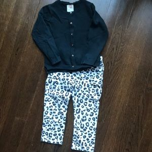 3T cardigan and leopard leggings outfit